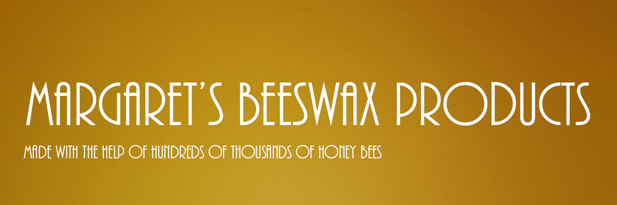 Beeswax natural products made with the help of hundreds of thousands of bees.